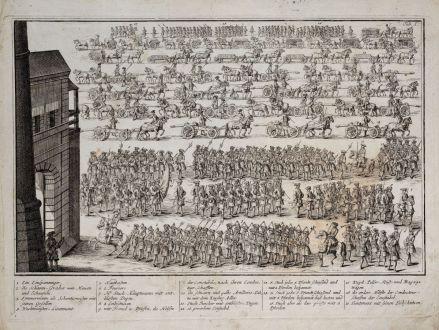 Graphics, Weigel, Military parade, 1718: [1. Ein Einspänninger 2. die Schatz-Gräber ...]