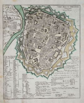 Antique Maps, Weigel, Germany, Bavaria, Augsburg, 1718: Urbis Augustae Vindobonae