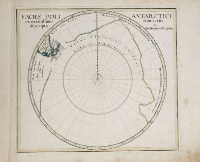 Antique Maps, Weigel, South Pole, 1718: Facies Poli Antarctici ex recentissimis itinerariis descripta a. Christophoro Weigelio