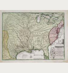 Novissima Tabula Regionis Ludovicianae Gallice dictae la Louisiane...