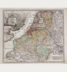 Belgium sive Inferior Germania in suas XVII provincias divisa jucta ex actissimam