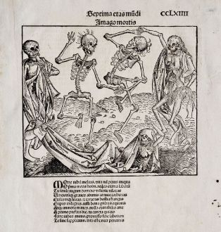Graphics, Schedel, Death dance, danse macabre, 1493: Imago Mortis
