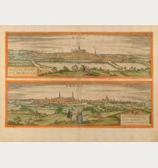 Mons. - Montes, Hannoniae Metropolis. / Arras. - Atrebatum, Episcopalis et Metropolitica Artesiae Civitas.