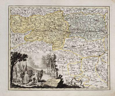 Antique Maps, Weigel, Austria - Hungary, Carinthia, 1718: Ducatus Carinthiae accurata delineatio
