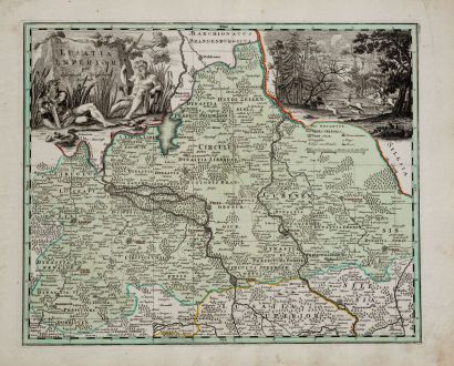 Antique Maps, Weigel, Germany, Brandenburg, Lower Lusatia, 1718: Lusatia Inferior per Christoph. Weigelium