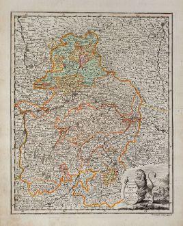 Antike Landkarten, Weigel, Deutschland, Bayern, 1718: Circulus Bavaricus delineatus