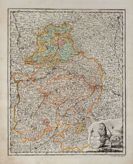 Antique Maps, Weigel, Germany, Bavaria, 1718: Circulus Bavaricus delineatus