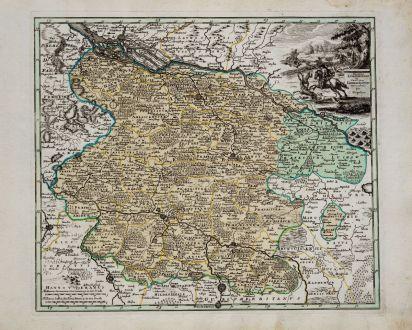 Antique Maps, Weigel, Germany, Lower Saxony, 1718: Ducatus Luneburgensis et Comitatus Dannebergensis nova tabula