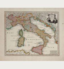 Italiae Cum adjacentibus Insulis accurata consignatio Curante