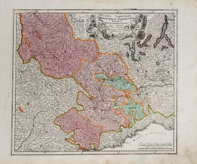 Antike Landkarten, Weigel, Italien, Piermont, Savoyen, Ligurien, 1718: Ducatus Sabaudiae Principatus Pedemontii Ducatus Montisferratensis