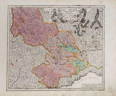 Antique Maps, Weigel, Italy, Piermont, Savoy, Ligurian, 1718: Ducatus Sabaudiae Principatus Pedemontii Ducatus Montisferratensis
