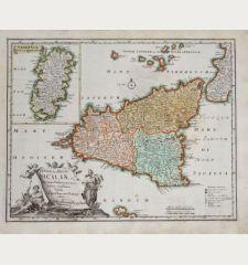 Insulae sive Regni Siciliae ante omnes Mediterranei maris Insulas...