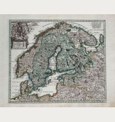 Scandinavia Complectens, Sueciae, Daniae & Norvegiae Regna ex Tabulis