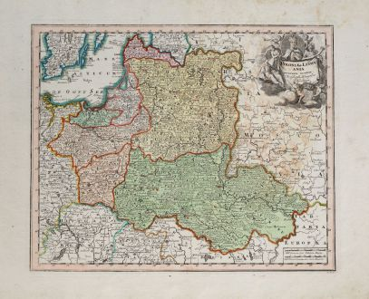 Antique Maps, Weigel, Poland, 1718: Poloniae & Lithuania accurante curatius