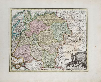 Antique Maps, Weigel, Russia, 1718: Imperium Moscovia