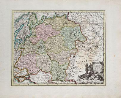 Antike Landkarten, Weigel, Russland, 1718: Imperium Moscovia