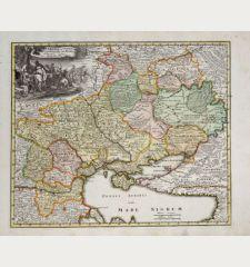 Ukrania seu Cosacorum Regio Walachia item Moldavia et Tartary minor