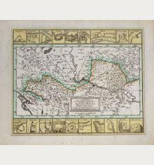 Mappa der zu Carlovitz geschlossenen... Kaiserlich Türkischen Gräntz Scheidung, so in dem Früh Jahr 1699 angefangen...