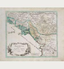 Dalmatia Albania cum procimis regionibus & parte maris Adriatici