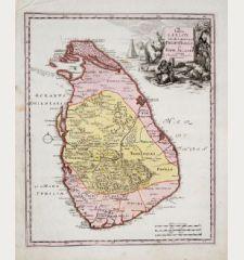 Insula Ceylon ex delineatione Philippi Baldaei et Hadr. Relandi