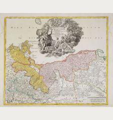 Ducatus Pomeraniae Novissima Tabula in Anteriorem et Interiorem Divisa, quatenus susunt Coronis Sueciae et Borussiae