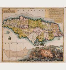 Nova Designatio Insulae Jamaicae ex Antillanis Americae Septentrion