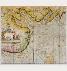 Pas-Caert vande Zee-Custen van Engeland van Orfordnes tot aen Flamborger Hoof