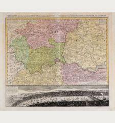 Regionis quae est circa Londinum ... / Ausfuhrliche Geographische Vorstellung der Gegend um London ...
