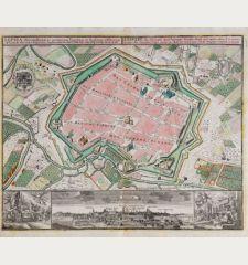 Lipsia ... - Leipzig, eine florisante, auch befestigte Handels- Stadt und weitberühmte Universitaet in dem Ober-Saexischen...