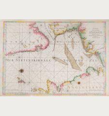 Carte de la Mer d'Allemagne ... depuis Bergen et les Isles Schetland jusques au Pas de Calais