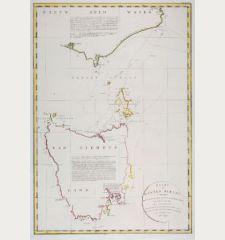 Kaart van Basses Straat, tusschen Nieuw Zuid Wales en Van Diemens-Land ... Heer Flinders ... 1798-1799