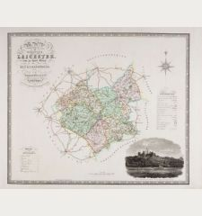 Map of the County of Leicester from an Actual Survey made in the Year of 1825 by C & I. Greenwood.