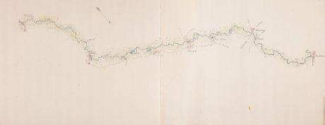Antike Landkarten, Anonymous, Niederlande, Flußlauf Aa, 1780: [Aa-Berlicum-Erp]