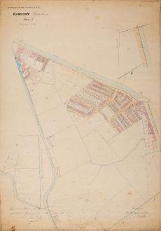 Antike Landkarten, Anonymous, Niederlande, Haarlem, 1884: Gemeente Haarlem Sectie E Schaal van 1 à 1250