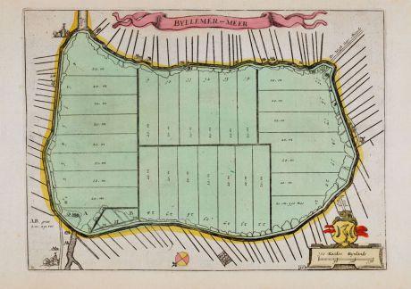 Antike Landkarten, Anonymous, Niederlande, Amsterdam, Bijlmermeer, 1660: Byllemer-Meer