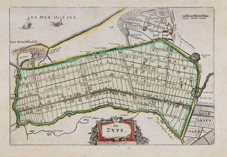 Antique Maps, Anonymous, Netherlands, Noord-Holland, Schagen, Zijpe, 1660: De Zype