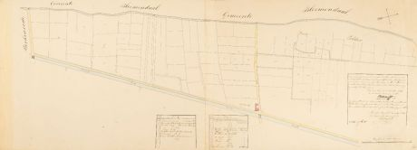 Antique Maps, Anonymous, Netherlands, Haarlem, 1841: [Manuscript Plan Leidsevaart]