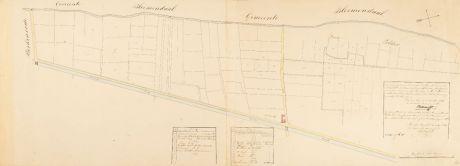 Antike Landkarten, Anonymous, Niederlande, Haarlem, 1841: [Manuscript Plan Leidsevaart]