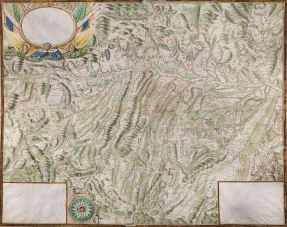 Antike Landkarten, Anonymous, Deutschland, Baden-Württemberg, Donau, 1702: [Donau Strom von Sigmaringen bis Donauwörth]