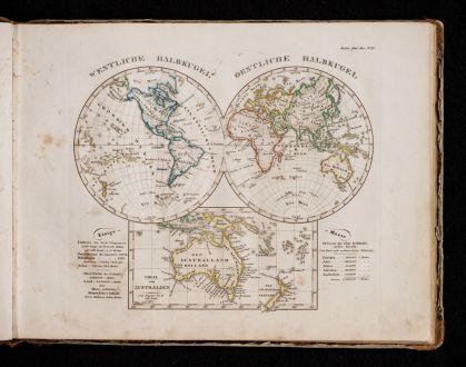 Atlanten, Stieler, Schulatlas, 1840: Stieler's Schul-Atlas über alle Theile der Erde nach dem neuesten Zustande, und über das Weltgebäude. Nach Stieler's...