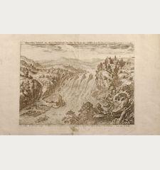 Eigentliche Bildtnuß des Großen Wasserbruchs oder Falls des Rheins Im Lauffen. Vera Delineatio Catarrhactaru Rheni ad...