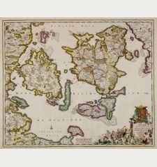 Insularum Danicarum ut Zee-Landiae, Fioniae Langelandiae, Lalandiae Falstriae, Fembriae, Monae ...