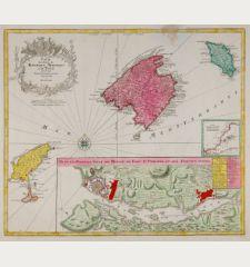 Carte des Isles de Maiorque Minorque et d' Yvice