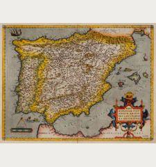 Regni Hispaniae Post Omnium Editiones Locuplettissima Descriptio