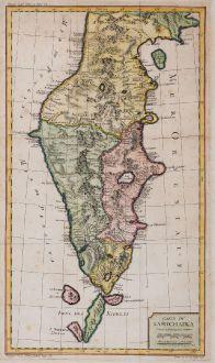 Antike Landkarten, Bellin, Russland, Kamtschatka, 1759: Carte Du Kamtchatka