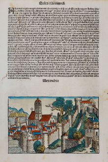 Antike Landkarten, Schedel, Ägypten, Alexandria, 1493: Alexandria