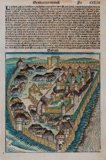 Antique Maps, Schedel, Balkan, Serbia, Belgrade, Sabac, 1493: Sabatz