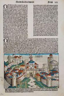 Antike Landkarten, Schedel, Mittlerer Osten, Irak, Mossul, Ninive, 1493: Ninive