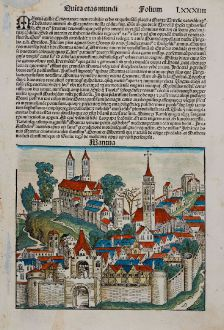 Antike Landkarten, Schedel, Italien, Lombardei, Mantua, 1493: Mantua