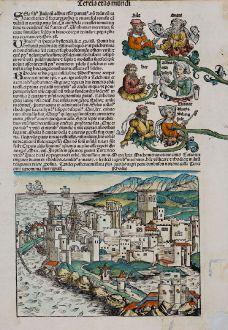 Antique Maps, Schedel, Greece, Rhodes, 1493: Rhodis